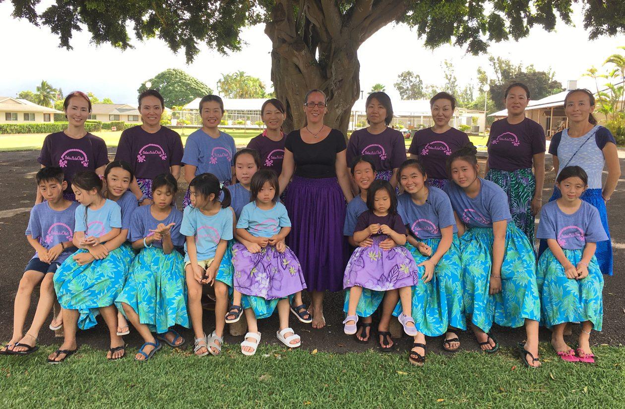 ハワイのフラ仲間